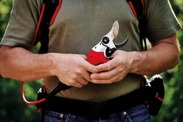 FELCO 811, the new portable pruning shears that offer power and speed for all demanding pruning jobs.