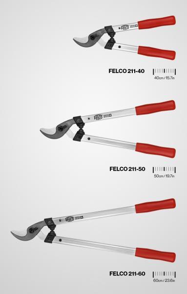 FELCO introduceert een nieuwe veelzijdige takkenschaar, de FELCO 211, beschikbaar in drie lengtes.