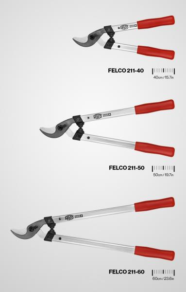FELCO bringt eine neue Mehrzweck-Astschere auf den Markt, die FELCO 211, die in drei Längen erhältlich sein wird.